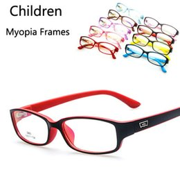 Wholesale Clear Glasses For Kids - Wholesale- 2017 New Kids Optical Frames Soft And Light Children's Glasses Nearsighted Myopia Spectacle Frame Clear Lens Only for Frame