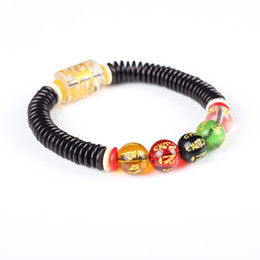 Wholesale Shell Beads Wholesale China - Ethnic style Natural Coconut shell space bead With stone Beads Bracelet Unisex Healthy Jewelry Tibetan Stretch Bracelet J1166