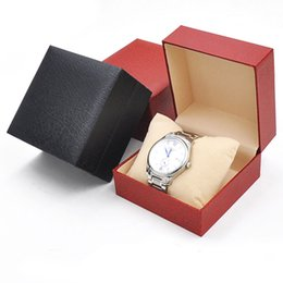 Wholesale Hard Gift Boxes - Watch Box HOT Durable Hard Case Square Gift Box For Bracelet Bangle Jewelry Watch Boxes Drop Shipping