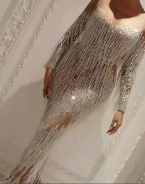 Wholesale Zuhair Murad Cocktail - Evening dress Yousef aljasmi Labourjoisie Tassels Charbel zoe Mermaid Long sleeve Crystals Michaelcostello Kylie Jenner Zuhair murad