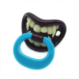 Wholesale Vampire Silicone Baby - Wholesale-Baby Funny Baby Pacifier Silicone Nibbler Vampire Pacifiers For Kids Newborn Baby Nipple Pacifiers Feeders For Toddler