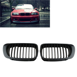 Wholesale Bmw E46 Front - Black Front Kidney Grill Grille For BMW E46 2 Doors 2D 3 Series 1998-2002 Coupe