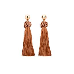 Wholesale earrings vintage flower drop - Vintage Fringe Tassel Earrings Luxury White Howlite Long Earring Dangle Zinc Alloy Drop Earrings Bohemian Boho Jewelry For Women