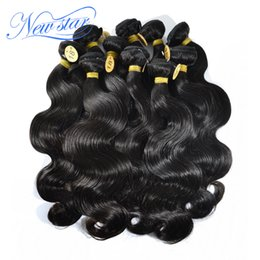 """Wholesale 1kg hair extensions - Wholesale-new star wholesale 1kg lot brazilian VIRGIN human hair extensions machine weft body weaves free shipping 10""""-34'' natural colors"""