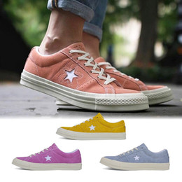 Wholesale Hot Pink Fur - 2017 Hot One Star x Golf le Fleur sneaker Chuck Tay Lor Yellow Casual Fashion Canvas Fur Designer Running Skateboard Shoes Sneakers 35-44
