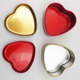 Wholesale Heart Tin Box - 500pcs Wedding Candy Tin Box Heart Shape Candy Box Various Color Wedding Supplies free shipping WA1983