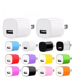 Wholesale Charger Colors 1a - High quality 12 Colors 5V 1A US Ac home wall charger power adapter for samsung note 2 3 4 for iphone 6 7 plus mp3 gps