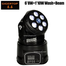 Wholesale Xlr Pin Connector - Freeshipping TP-L70C RGBW Wash Beam Dual Effect Mini Led Moving Head Light 3 PIN XLR DMX Connector Disco Dancing Hall Roof Truss Stage Light