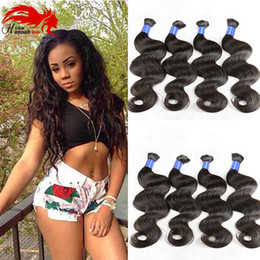 Wholesale Top Buys - Hannah product Top Quality Micro mini Braiding Bulk Hair No Attachment Peruvian Body Wave 3pcs Human Hair Bulk Buy