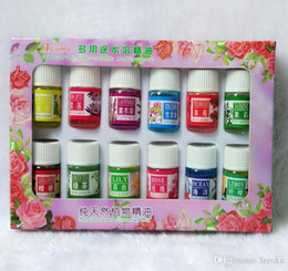 Wholesale Roses Bath - 3ML Essential Oils Pack for Aromatherapy Spa Bath Massage Skin Care Lavender Oil With 12 Kinds of Fragrance Free Shipping