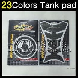 Wholesale Kawasaki Zx7r Tank - 23Colors 3D Carbon Fiber Gas Tank Pad Protector For KAWASAKI NINJA ZX7R 00 01 03 ZX-7R ZX750 ZX 7R 2000 2001 2002 2003 3D Tank Cap Sticker