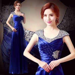 Wholesale Shirred Gown - Evening gown, long gown, 2017 new style banquet, chorus dress, long skirt, female chorus, costume, hostess