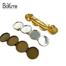 Wholesale copper hair clips - BoYuTe 10Pcs Hair Clip with 20MM Cabochon Base Tray Wholesale Antique Bronze Silver Gold Diy Hair Clip