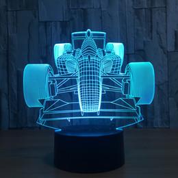 rennbatteriebox Rabatt Rennwagen 3D LED Lampe Nachtlicht 7 RGB Lichter DC 5V USB trieb 5. Batterie Dropshipping Kleinkasten an