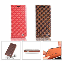 Wholesale Plastic Business Card Cases - Business Leather Wallet Case Flip Cover With Card Slot Kickstand For Samsung S8 plus Iphone X 8 7 6s Plus With Retail Package