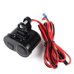 Wholesale Motorcycle Mobile Phone Usb Charger - USB Motorcycle Mobile Phone 5V Power Supply Port Socket Charger Outlet Accessories Cigarette Lighter Waterproof DXY88