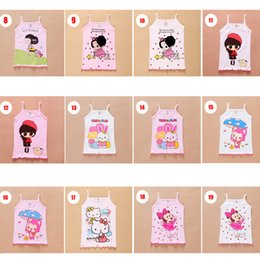 Wholesale Korean Baby Girl Summer Fashion - Baby Kids Clothing Tops Tees girls Tank Top tops 2017 summer korean fashion Cute cartoon letters boutique Cotton top t-shirts #8019
