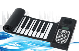 Wholesale Roll Up Keyboards - 49 Keys Promotion Newest Portable Flexible Roll Up Electronic Piano Soft Silicone Keyboard Midi Digital Synthesizer