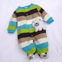Wholesale Toddlers Clothing Wholesale Price - Wholesale- Best Price !Baby Toddler Clothes Toddler Romper Warm Hoodie Soft Cartoon Bodysuit Outfit Jumpsuit For Baby 30