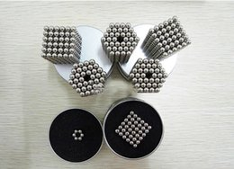 Wholesale Black Science - 216Pcs 3mm Shapable Magnetic Balls Neo Cube Magic Cube Magnets Puzzle Fidget Toys Anti Stress Cube Kids' Gift with Metal Box 2107255