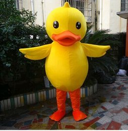 Wholesale Custom Mascots Costumes - Big yellow duck costume Fancy dress Adult Size Suits - mascot Customizable