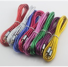 Wholesale Iphone Cord Long 3m - Unbroken Metal connector Audio Cable Car extension 3M 10Ft 3.5MM Male to Male long extension Cord For Iphone , Samsung, HTC Tablet PC