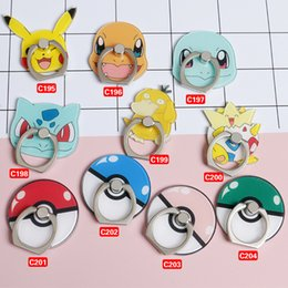 Wholesale Buckle Style Rings - More Style Pikachu Squirtle My neighbor totoro The Avengers Call Phone Rings Ring buckle mobile scaffold DR019 (20pcs Lot)