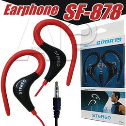 Ipad hook online-3.5 mm gancho para la oreja auriculares deporte auriculares con cable auriculares para iphone 8 plus xs xr ipad mp3 mp4 xiaomi samsung s10 plus
