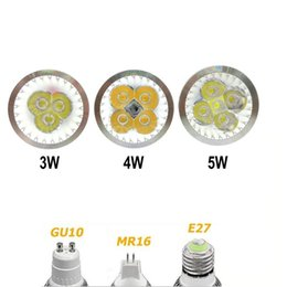 Types de projecteurs menés en Ligne-Projecteur à LED de haute puissance GU10 E27 MR16 LED lumière spot AC85-265V / 12V Dimmable lampe à ampoule LED down éclairage 3W 4W 5W Type D