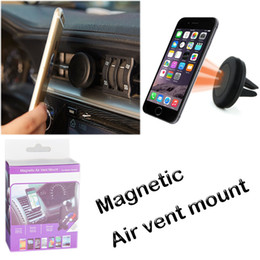 Wholesale Note Car Holder Vent - Car Mount Air Vent Magnetic Universal Car Mount Phone Holder for iPhone 7 note 8 One Step Mounting Reinforced Magnet Easier Safer Driving