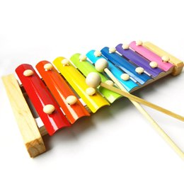 Wholesale Xylophone For Children - Wooden 8 Notes Xylophone, Children Musical Toy Musical Instrument for Kids with 2 Wood Mallets For Fun Wooden Mallets and Music Cards Kids