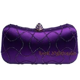 Porte-monnaie violet en Ligne-Embrayages en cristal pourpre gros et plus récents, boîte, sacs à main, sacs à main et soirée