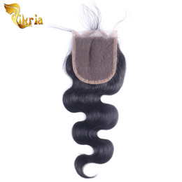 Wholesale Chinese Stockings - Brazilian Malaysian Indian Peruvian Virgin Human Hair Closures Body Wave Natural Black 4x4 Lace Closures 8-20 inch In Stock Free Shipping
