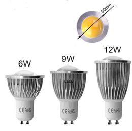 Wholesale Energy Saving Spot Light - Best Quality LED COB Spot Light MR16 GU5.3 GU10 B22 E14 E27 Dimmable 6W 9W 12W AC 110V -240V LED Spotlights Energy Saving Bulbs CE RoHS