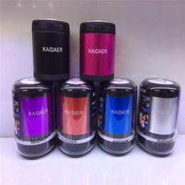 Wholesale Kaidaer Mini Speaker Wholesalers - Direct Wholesale High-end Quality KAIDAER Card Bluetooth Speaker KD06BT Metal Bluetooth Speaker Outdoor MP3 Speaker Function