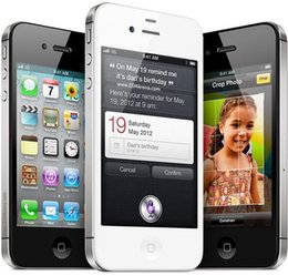 Wholesale Iphone Wifi - Original iphone 4S Smart Phone 3.5Inch IOS7.0 64G ROM 8.0MP WIFI GPS Rufurbished Cell Phones