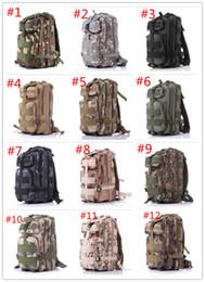 Wholesale Wholesale Military Backpacks - 30L 3P Backpack Waterproof Outdoor Trekking Tactical Camping Military Sports Rucksacks Backpacks Classic Bag Multi Color DHL free