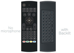 Wholesale Wireless Keyboard Gyroscope Android - 10pcs MX3 T3 backlit Without Microphone Mini 2.4GHz Wireless Gyroscope Keyboard Air Mouse Remote G-Sensor For Android TV BOX PC dongle