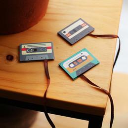Imanes de la escuela online-Al por mayor de 12 PC / de dibujos animados de cassette de cinta Lote marcadores animal lindo Mini marcadores magnéticos supplies1662 imán MARCAPAGINAS Papel de la escuela