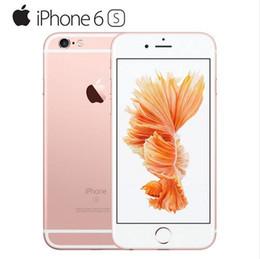 Wholesale Mobile Phone Original Apple - Original Unlocked Iphone 6s Mobile phone 4G LTE 4.7 inches IOS 2GB RAM 16GB 64GB 128GB ROM 12MP 2160p 1715mAh cellphone