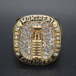 Canada New Fashion Plaqué Or Vintage 1964 1965 Montreal Montreal bagues de Championnat Replica Custom Champion Rings taille 11 Offre