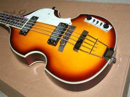 Wholesale Sunburst Bass - Custom Hofner H5001-CT Contemporary Series Violin Bass Guitar 4 String Bass New Style