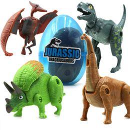 4 teile / satz Verformung Dinosaurier Eier Kunststoff Jurassic Neuheit Pädagogisches Dinosaurier Spielzeug Geschenk für Kinder von Fabrikanten