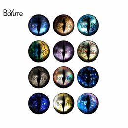 Wholesale Eyes 25mm - BoYuTe New Product 12Pcs Mix Image Colorful Eye Round 25MM Glass Cabochon Stone for Jewelry Making