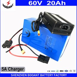 Wholesale Battery Scooters - BOOANT 60V 20AH E-Bike Scooter Li-ion Battery pack for Bafang BBS 1400W Motor Free Customs to US EU with 30A BMS 5A Charger