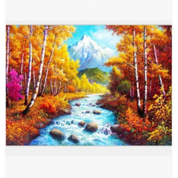 Wholesale Nature Figures - Bedroom Oil Painting Nature Landscape Paintings Decor Unframed Decoration Printed Poster for Living Room Wall Art Print Decorative Bed