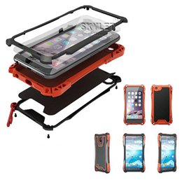 Wholesale Shock Resistant Mobile Phone - For iPhone 6 Waterproof case Metal Case Amira For Galaxy S6 S5 Iphone 5 Warter Dirt Shock Proof Mobile Phone Cover Cases In Retail Package