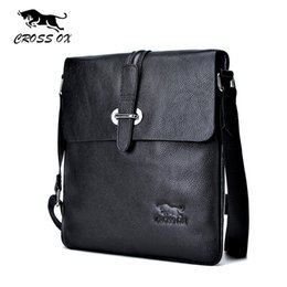 Wholesale Leather Ipad Messenger - Wholesale-CROSS OX 2016 Summer New Arrival Genuine Leather Men's Messenger Bag Shoulder Bags For Men Cross Body Bag iPad Portfolio SL366M