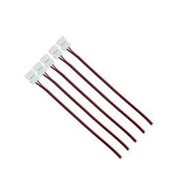Pin di saldatura online-1000 pz / lotto 8mm 10mm pin cavo adattatore connettore striscia 2 pin nessun bisogno saldatura per 3528 5630 singolo colore strisce strisce led singolo colore