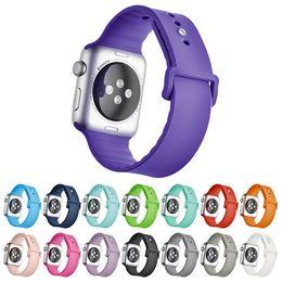 Wholesale Pink 38 - New sports for NK Silicone Monochrome Series Apple Watch Series 1 2 Strap 38 42mm Bracelet VS Fitbit Alta Blaze Charge Flex